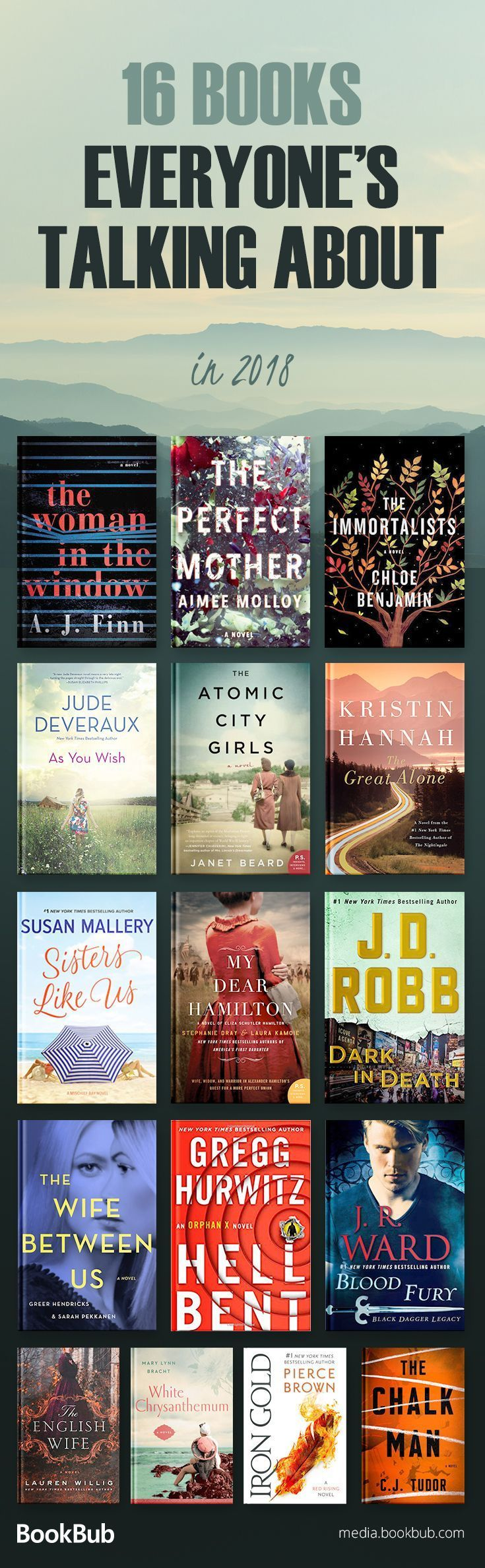 The best books to read in 2018, including fiction books for 20 somethings, popular fiction books, and more. #FictionBooks
