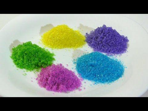 Цветной сахар своими руками Как сделать цветной сахар для украшения пряников и другой выпечки - YouTube