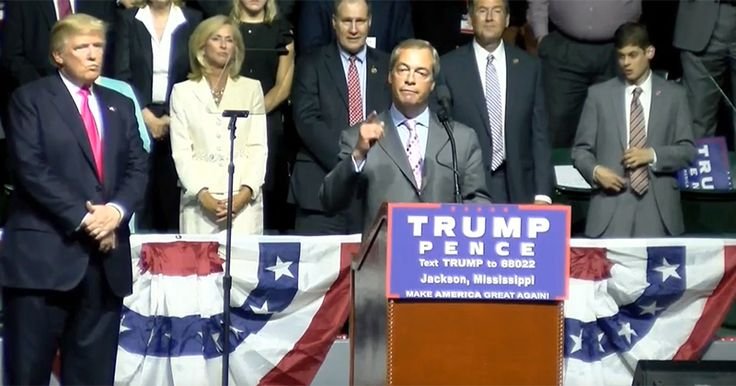 'MR. BREXIT' NIGEL FARAGE SPEAKS AT DONALD TRUMP RALLY IN JACKSON, MS Farage takes to Trump's podium