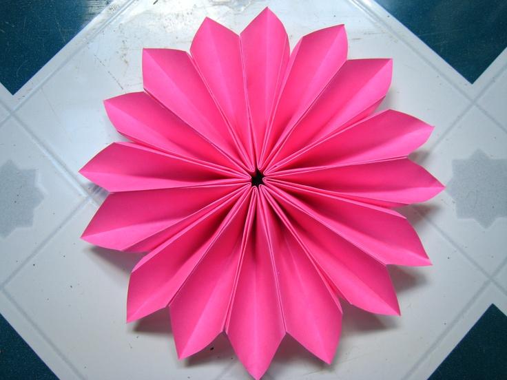 Pink Origami Dahlia