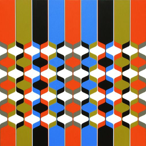Open System, a geometric painting I made in 2009