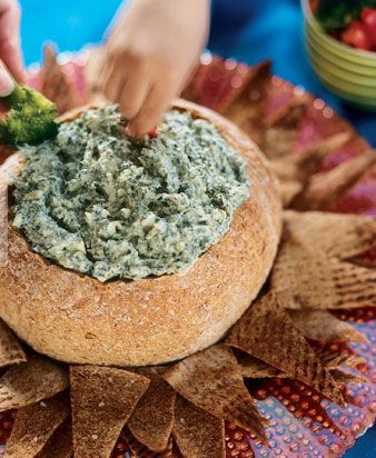 Spinach Dip Bread Bowl   Healthier Recipe Update With Greek Yogurt And Cottage  Cheese Instead Of Sour Cream And Liptonu0027s Soup Mix. Use Food Should B Good  ...
