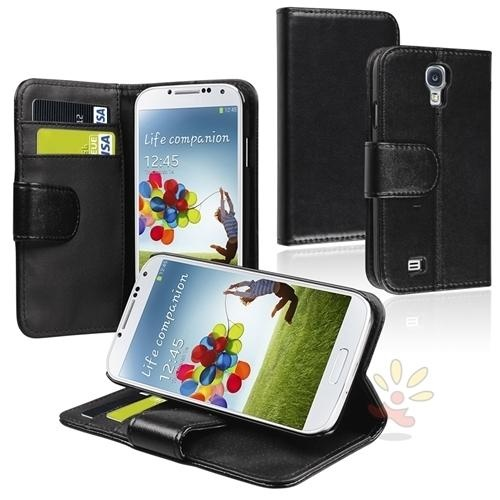 """Keep your Samsung© Galaxy SIV / S4 i9500 scratch free with this synthetic leather case Leather case features smooth synthetic leather and heavy duty stitching to ensure the long life of... More Details"