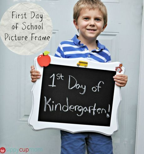 First Day of School Picture Frame by @Melissa Mitchell #Michaelsbts