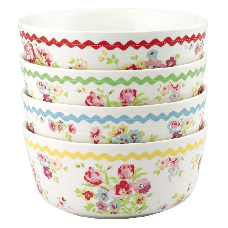 Set of 4 Cranham Bowls | Cath Kidston  sc 1 st  Pinterest & 115 best Cath Kidston images on Pinterest | Cath kidston Dinnerware ...