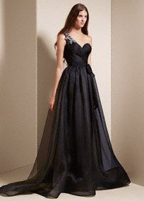 75 best wedding dresses images on pinterest wedding dressses this one shoulder garza gown features a breathtakingly dramatic draped corset bodice and crystal corsage black wedding dressesvera wang junglespirit