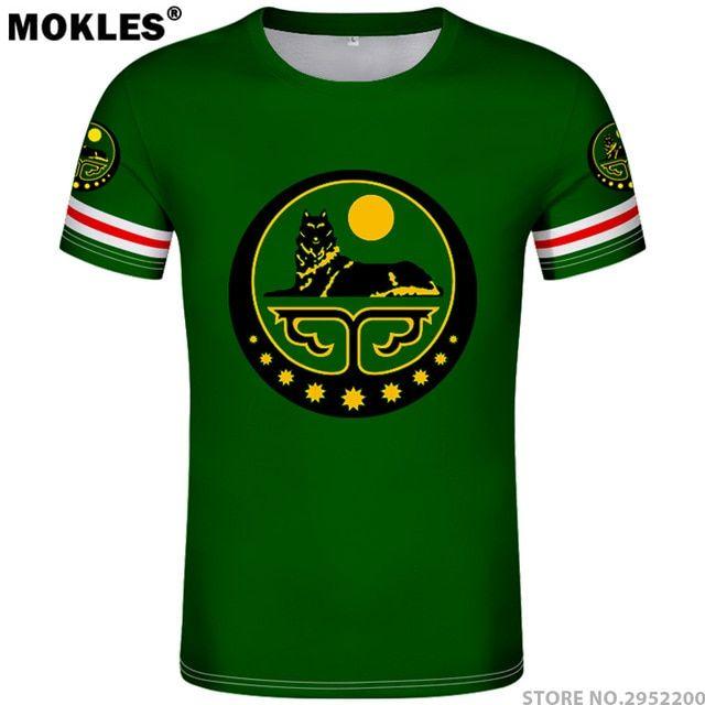 Chechnya Shirt Free Custom Made Name Number Grozny T Shirt Print