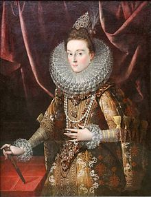 Juan Pantoja de la Cruz . Infanta Isabel Clara Eugenia. Hija de Felipe II.
