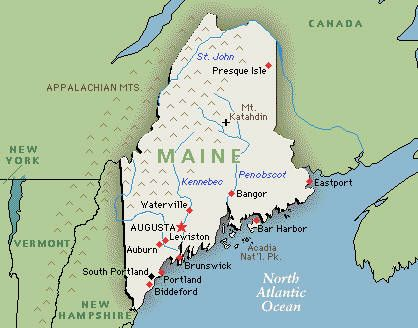 Best MAPS Images On Pinterest Maine Forks And Maps - State of maine map