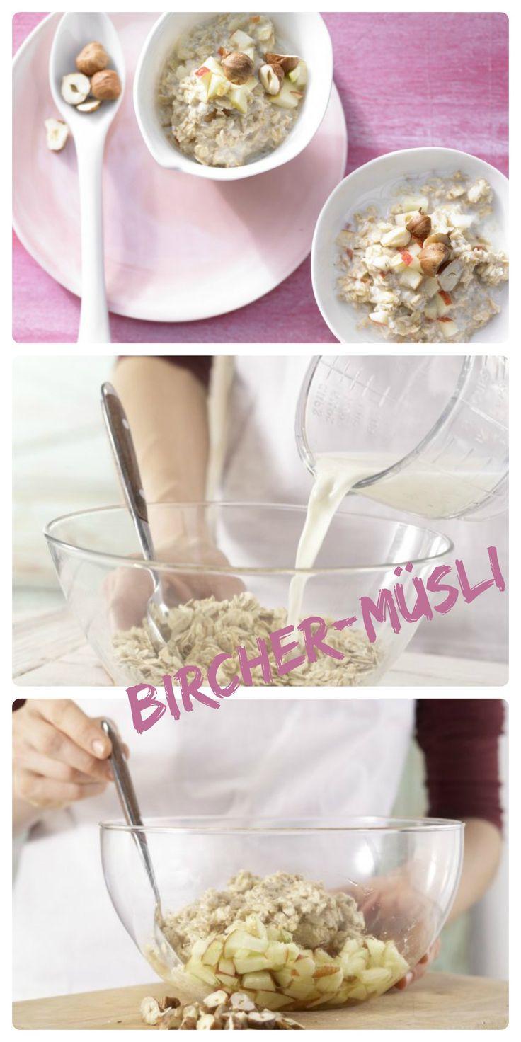 Klassiker für einen Turbostart in den Tag: Bircher-Müsli – smarter mit Haselnüssen | http://eatsmarter.de/rezepte/bircher-muesli-smarter