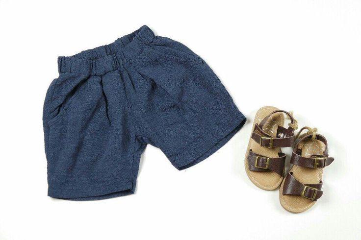 Kids Boys Girls Dark Blue Summer Cotton Casual Bottom Shorts Pants #Unbranded