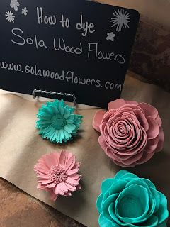 Sola Wood Flower Crafts  Video Tutorial: How to dye sola wood flowers.