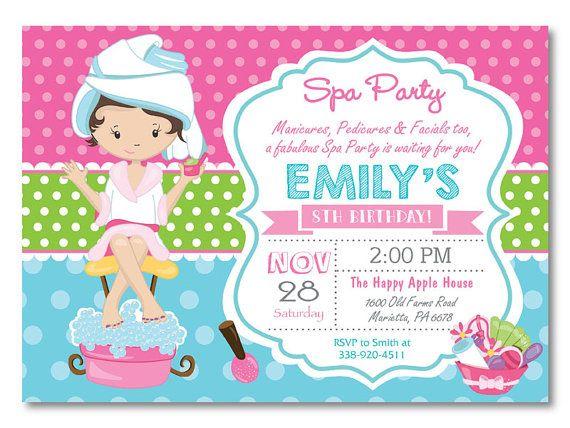 Best 25 Spa party invitations ideas – Girls Spa Birthday Party Invitations