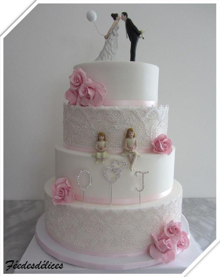 ... sur Pinterest  Gâteaux de fleurs, Gâteau ébouriffé et Gâteaux
