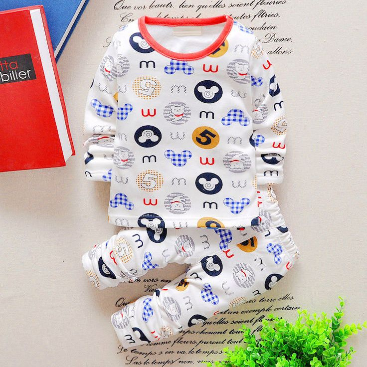 XL Boys And Girls Kids Cartoon Warm Pullover Clothes Set(Buy Two Get Third Free) #ALiangZai #Everyday