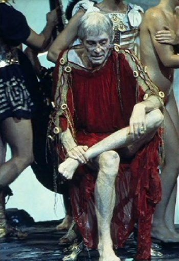 Peter O'Toole in Caligula directed by Tinto Brass, Bob Guccione and Giancarlo Lui, 1979
