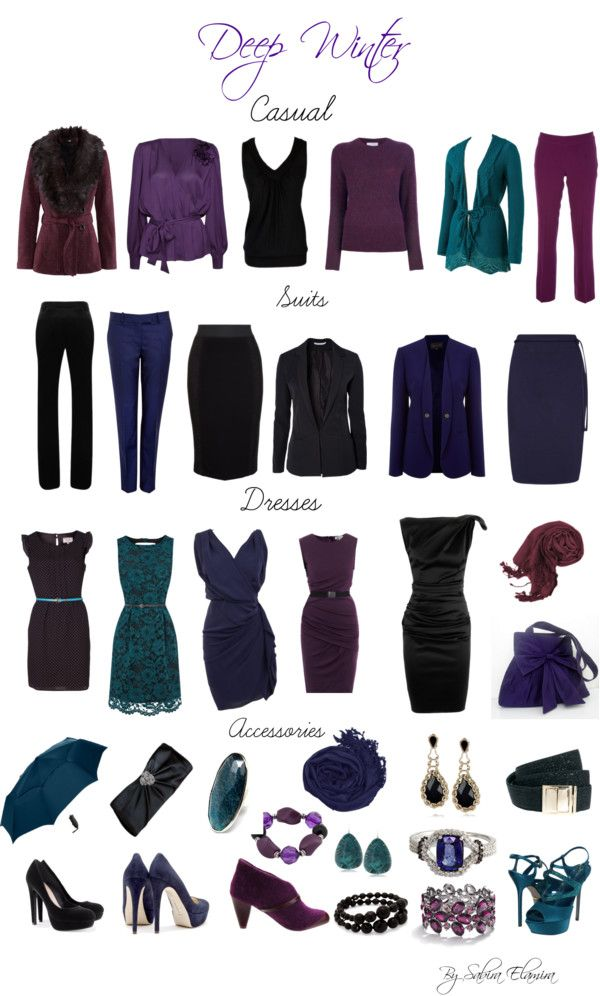 """Deep Winter dark colors"" by sabira-amira ❤ liked on Polyvore"