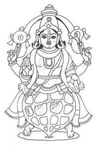 Coloring pages...the ten avatars of Vishnu.