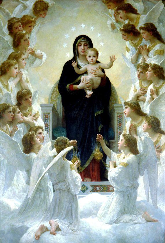 Virgin Mary print Catholic prints Catholic posters by TanabeStudio