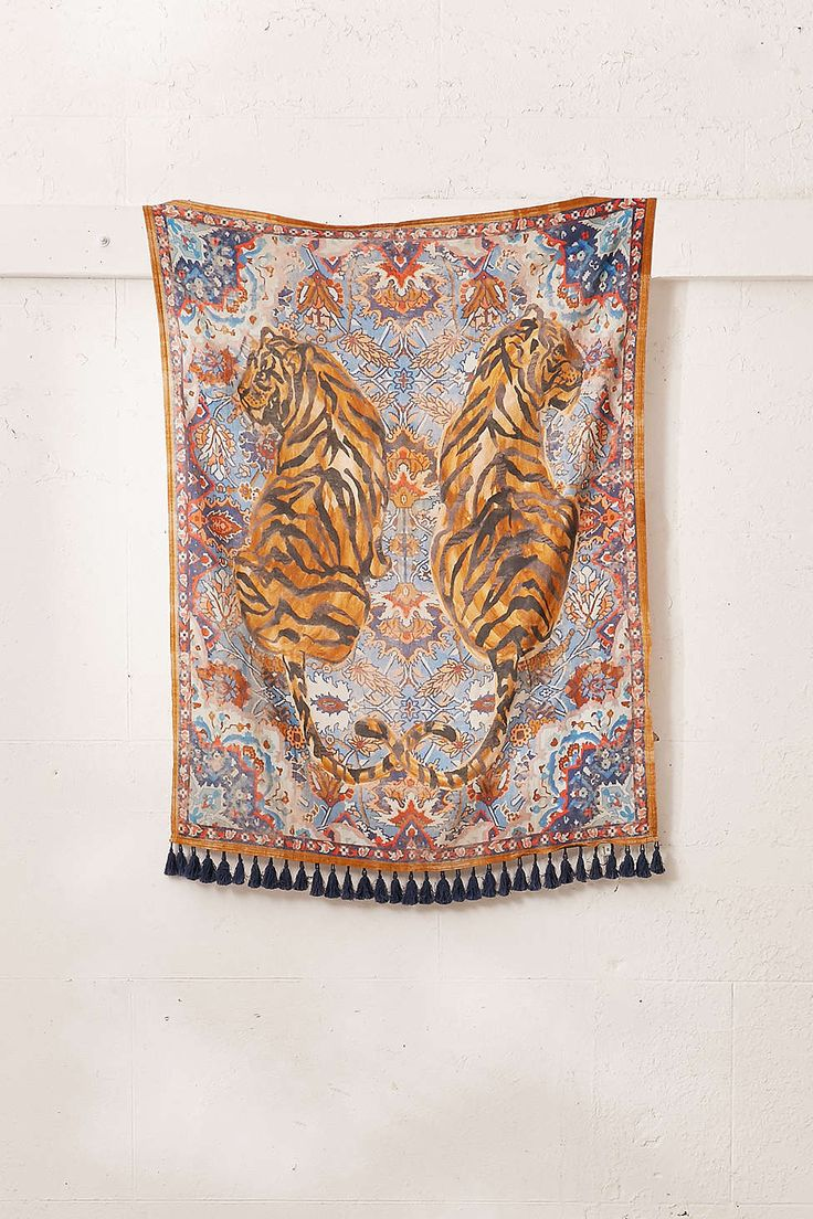 Tiger Twins Tapestry