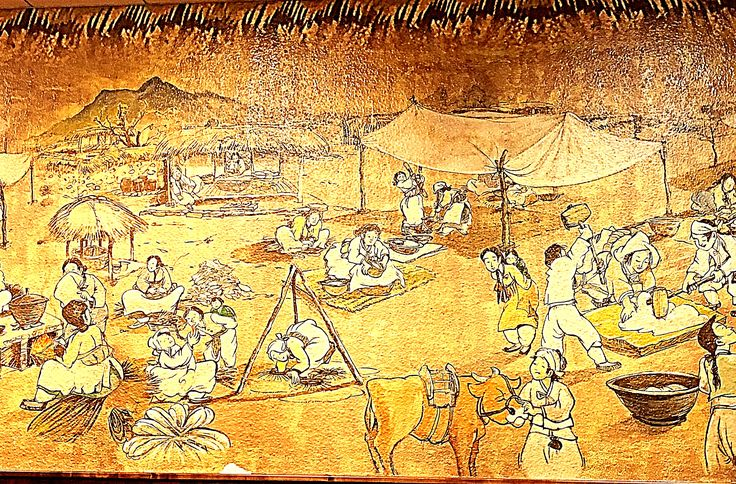 Ancient Korean painting mural