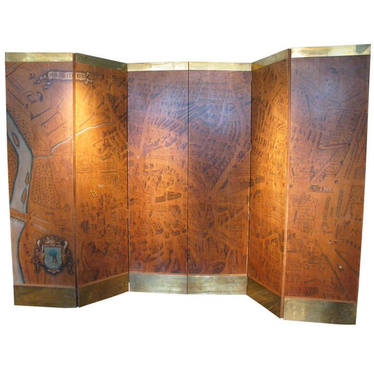 1stdibs | An Outstanding Circa 1950s Six Fold Screen By  Luis Gutierrez SotoWish I had a use for this,
