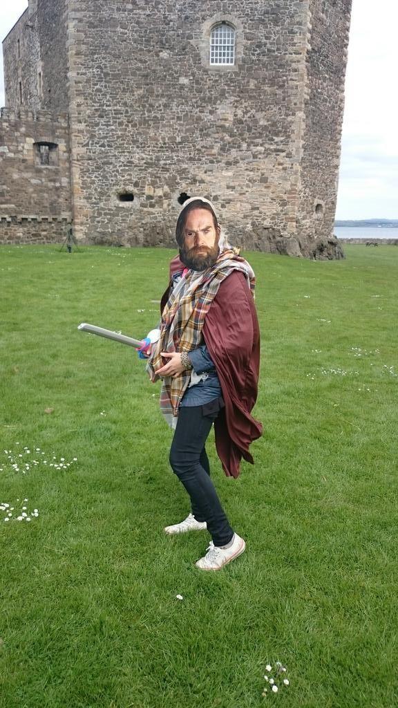 OutlandishUKGath2015 @UKOutlanderGath   Murtagh gets ready to besiege Fort William Garrison!!