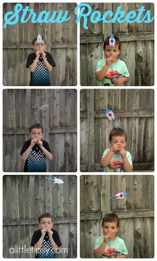 Rocket Straws Summer Kids Activity