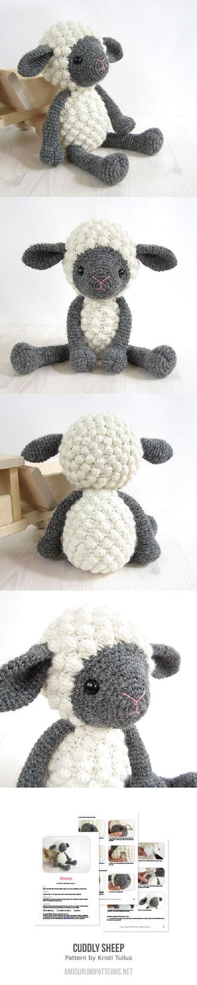 Cuddly sheep ✿⊱╮couldn't be more cute! try to make it!