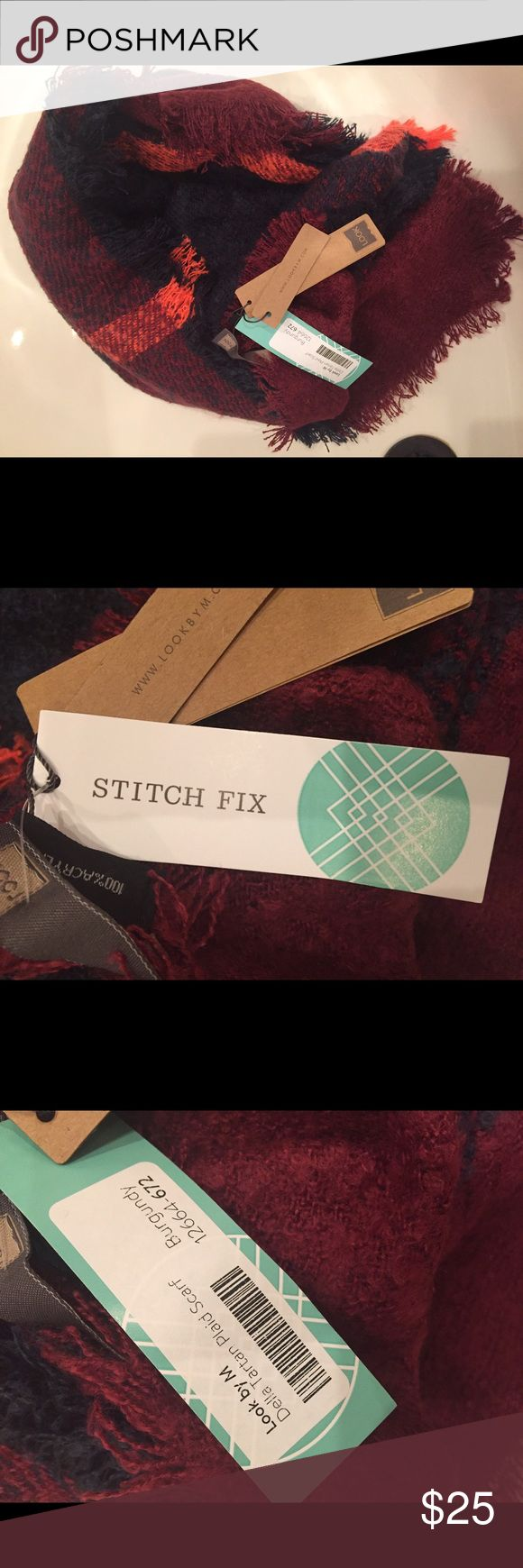 Stitch fix plaid blanket scarf Della tartan. New with tags. look by m Accessories Scarves & Wraps
