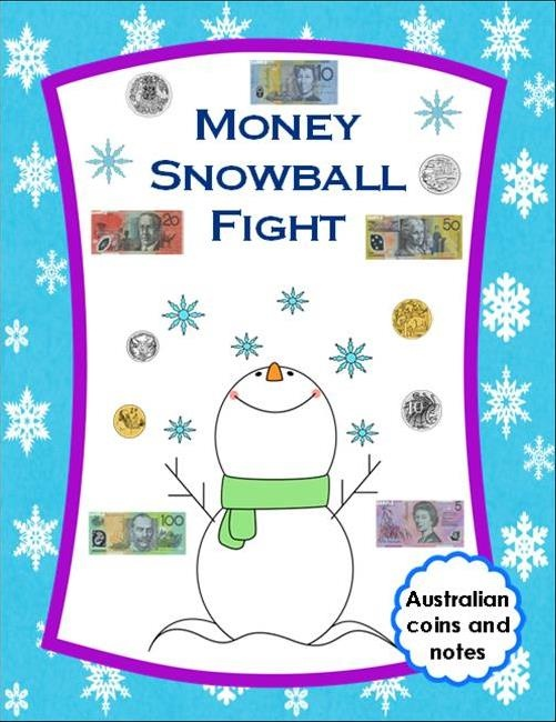 Money Snowball Fight (AU$) - A great way to place students into groups in a fun way whilst recognising Australian coins and notes in pictorial, written and descriptive form. Clear, coloured images of Australian currency is used throughout to avoid confusion by students.