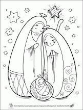 Christmas coloring on children Hugolescargot.com
