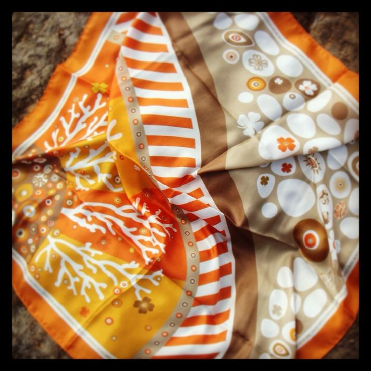 """Summer Healing"" silk scarf specially designed for Liana Vourakis, by Grecian chic!"
