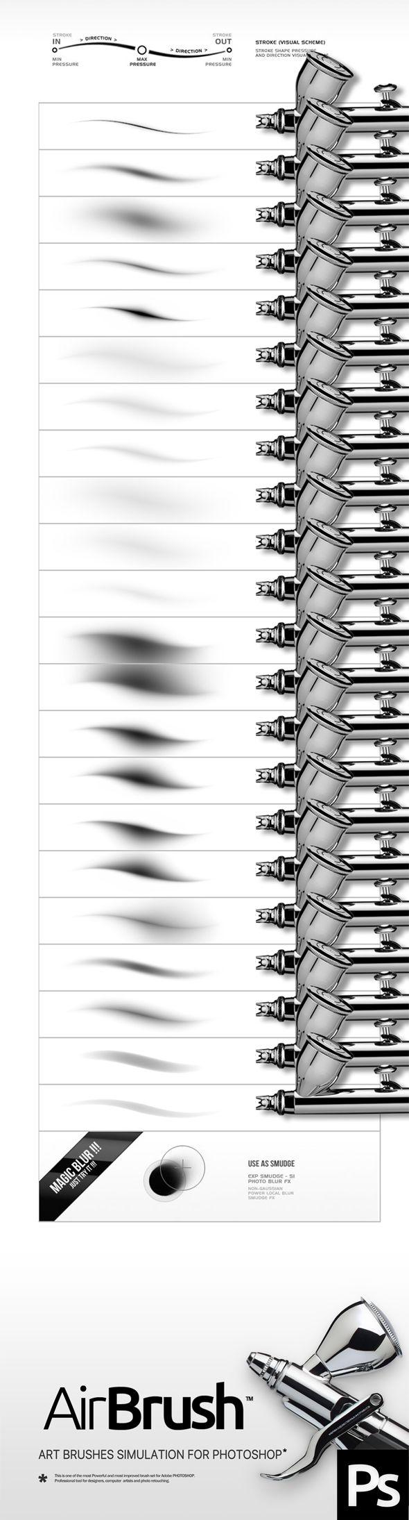 Airbrush Photoshop Brushes. Download here: http://graphicriver.net/item/airbrush-brushes/15815667?ref=ksioks