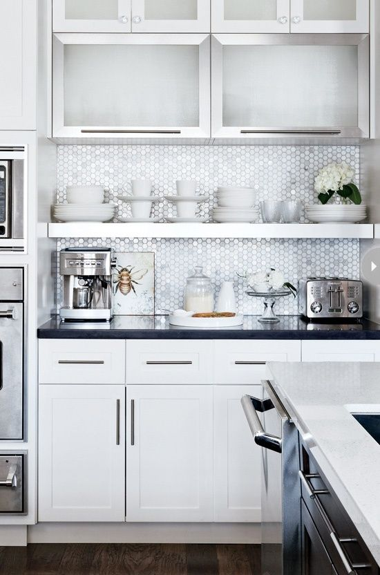 Kitchen backsplash options for the home pinterest for Kitchen penny backsplash