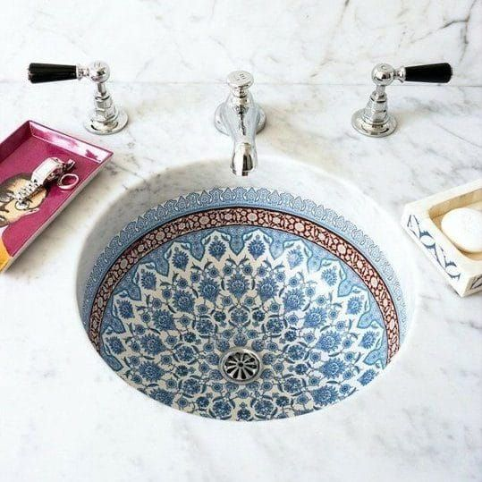 9 ways to spruce up your bathroom- Moroccan Style Sink