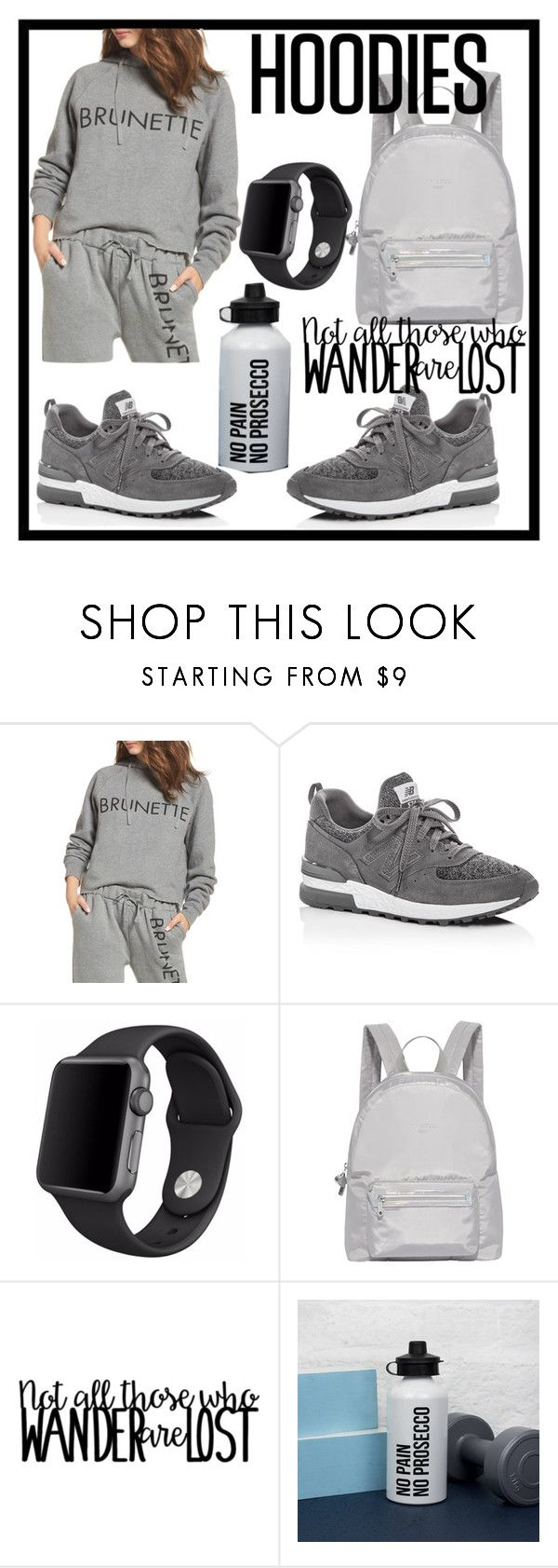 """""""HOODIES"""" by sevil609a ❤ liked on Polyvore featuring Brunette, New Balance, Apple, Fiorelli and Hoodies"""