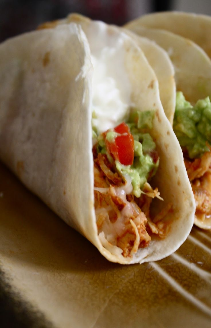 Crockpot Chicken Tacos, only 3 ingredients