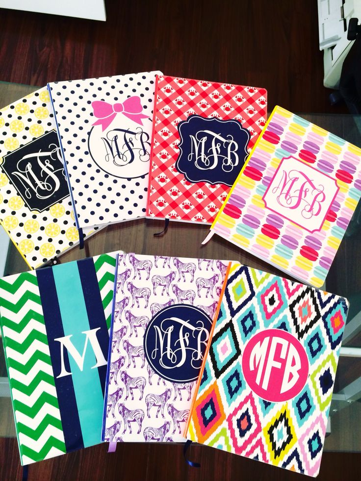 Cool Notebook Cover : Cool notebooks designs monogramed crafts pinterest
