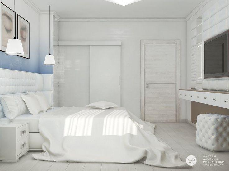 Дизайн интерьера от студии Альбины Ризвановой #дизайнинтерьераказань #дизайнеральбинаризванова #интерьервморскомстиле #интерьерспальни #светлый интерьер #безмятежность