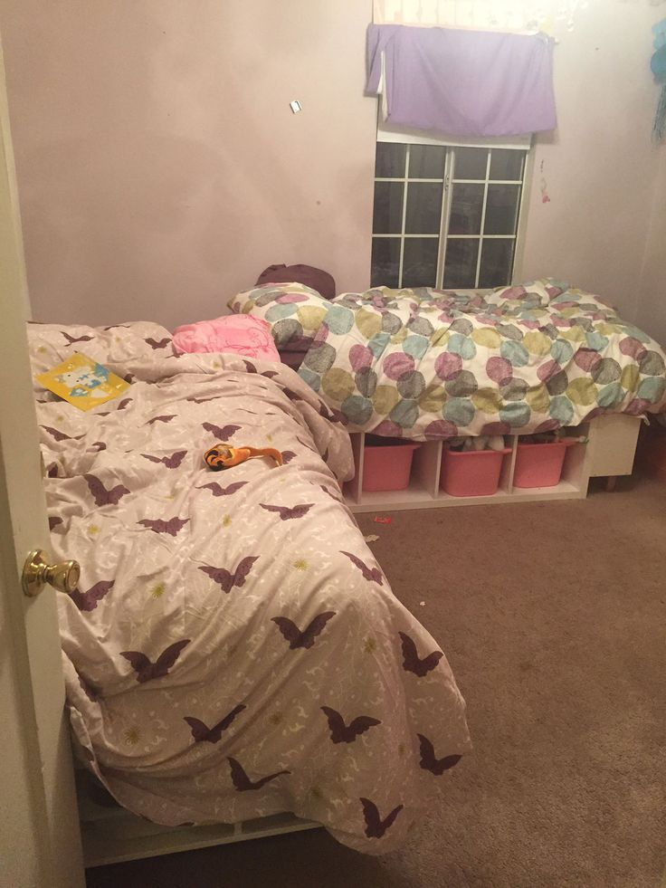 This Week I Finished A Custom Corner Bed Frame For My Two Daughters Who  Share A