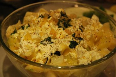 Макароны пенне с капустой и картофелем : Вторые блюда