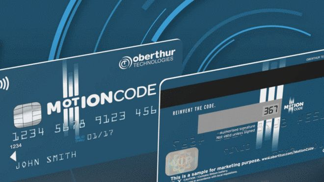 Motion Code credit card