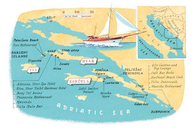 Island-hopping on the Dalmatian Coast  CROATIA  Chic Croatia