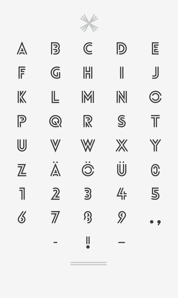 Lovelo Inline - Font by Renzler. Design, via Behance