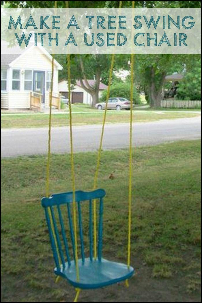 DIY Chair Tree Swing 96 best Swings