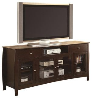 Coaster CONNECT-IT TV Console in Walnut - transitional - home electronics - by Cymax