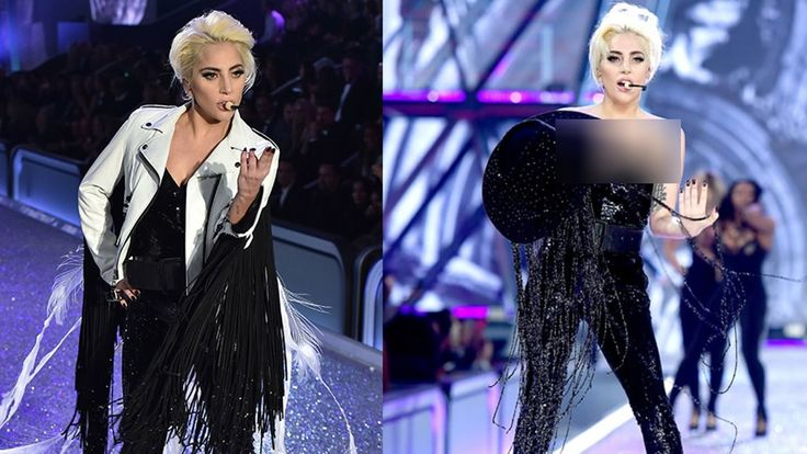 Lady Gaga Wardrobe Malfunction At Victoria's Secret Fashion Show 2016 - https://www.fashionhowtip.com/post/lady-gaga-wardrobe-malfunction-at-victorias-secret-fashion-show-2016/