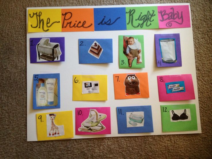 """""""The Price is Right Baby"""". Great baby shower game. You"""
