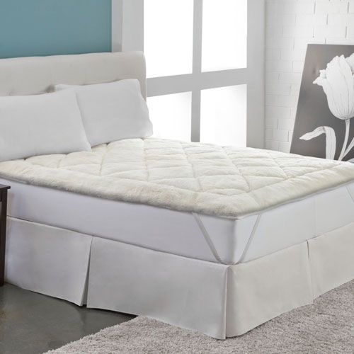 White Cool Wool Reversible Queen Mattress Topper - (In No Image Available)